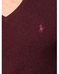 メンズ Polo Ralph Lauren ロゴ プルオーバー Purple