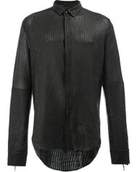 Cedric Jacquemyn | Black Leather Shirt for Men | Lyst