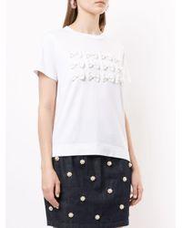 Tu Es Mon Tresor リボンディテール Tシャツ White