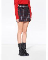 Miu Miu チェック Aラインスカート Multicolor