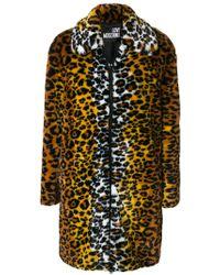 Love Moschino Multicolor Leopard Print Coat