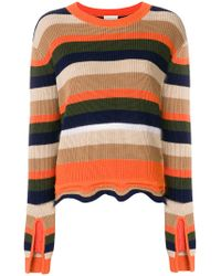 Moncler Multicolor Striped Fitted Sweater