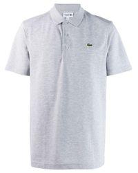 Lacoste Poloshirt mit Logo-Stickerei in Gray für Herren