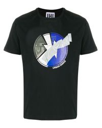 メンズ Les Hommes グラフィック Tシャツ Black