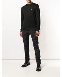 Jeans skinny effetto vissuto di Philipp Plein in Black da Uomo
