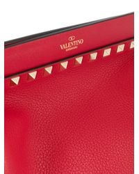 Valentino Garavani ロックスタッズ ショルダーバッグ Red