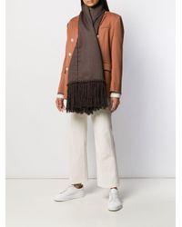 Jil Sander Brown Button-up Winter Scarf