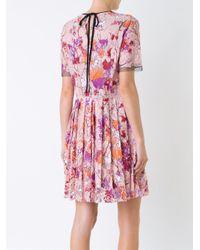 MSGM Multicolor Printed Shift Dress