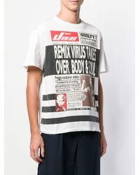 Camiseta con estampado de periódico Jean Paul Gaultier Pre-Owned de hombre de color White
