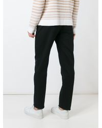 J.W. Anderson Black Double Waistband Trousers for men