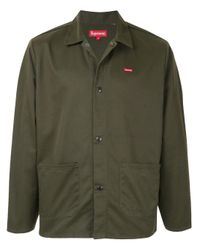 Supreme Green Buttoned Work Jacket for men