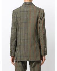 Golden Goose Deluxe Brand - Green Oversized Checked Blazer - Lyst