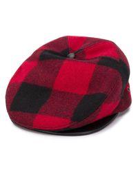 DSquared² チェック ベレー帽 Red