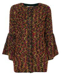 Blumarine - Brown Single Breasted Coat - Lyst