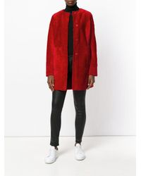 DROMe - Red Panelled Coat - Lyst