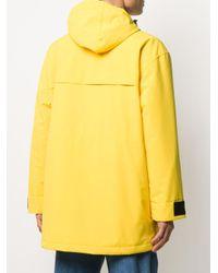 メンズ Paul & Shark カーゴポケット パーカーコート Yellow