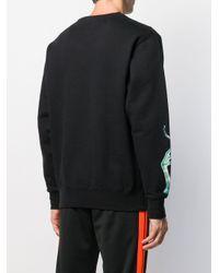 メンズ SSS World Corp ロゴ スウェットシャツ Black