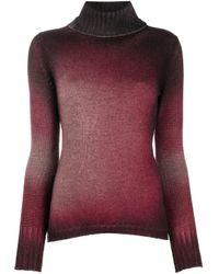 Jersey de cachemira con cuello vuelto Avant Toi de color Red