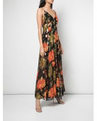 Haney Black Michelle Floral-jacquard Dress