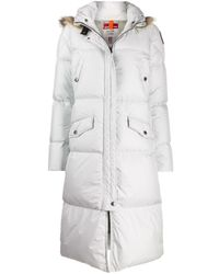 Parajumpers White Hooded Padded Coat