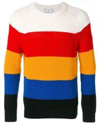 メンズ AMI ラグランスリーブ クルーネックセーター Multicolor