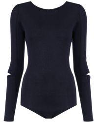 Knit bodysuit di Gloria Coelho in Blue