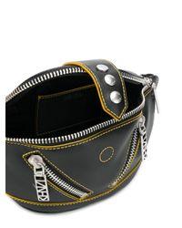 KENZO Black Zipped Logo Belt Bag