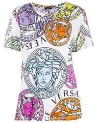 Camiseta con estampado Medusa Amplified Versace de color White