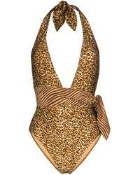 Maillot de bain à imprimé léopard Empire Zimmermann en coloris Brown