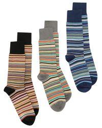 Pack de tres calcetines con rayas Paul Smith de hombre de color Multicolor