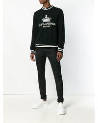 メンズ Dolce & Gabbana ロゴ セーター Black