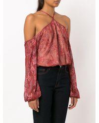 Cecilia Prado Red Mariam Knit Blouse