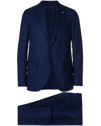 Lardini Blue Two Piece Suit for men