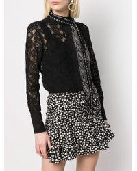 Foulard fin à motif cachemire Saint Laurent en coloris Black