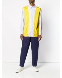 Comme des Garçons - Blue Colour-block Panelled Shirt for Men - Lyst