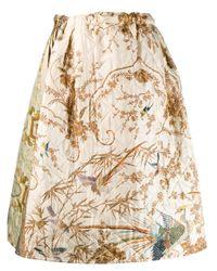 Расклешенная Юбка С Анималистичным Принтом Pierre Louis Mascia, цвет: Multicolor