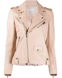 Giacca biker RED(V) con zip di RED Valentino in Pink