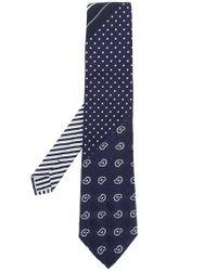 Etro - Blue Multi-pattern Tie for Men - Lyst