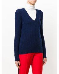 Polo Ralph Lauren | Blue Maglione Con Scollo A V | Lyst
