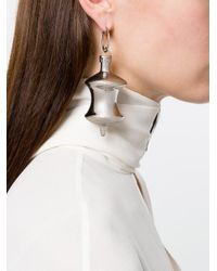 Balenciaga - Metallic December Pendant Earrings - Lyst