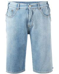 MM6 by Maison Martin Margiela Blue Denim Shorts