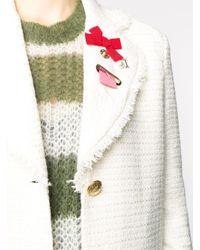 Boutique Moschino ツイード シングルコート White