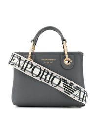 Сумка-тоут С Логотипом Emporio Armani, цвет: Gray