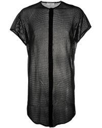 T-shirt à effet de transparence Saint Laurent pour homme en coloris Black