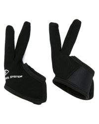 Undercover Black Two Finger Gloves