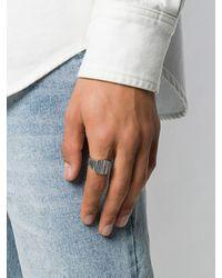 Tom Wood 'Cushion Structure' Ring in Metallic für Herren