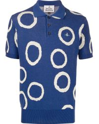Vivienne Westwood Poloshirt mit Jacquard-Kreismuster in Blue für Herren