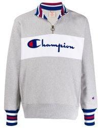Felpa con mezza zip di Champion in Multicolor da Uomo
