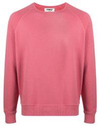 Jersey con cuello redondo YMC de hombre de color Pink