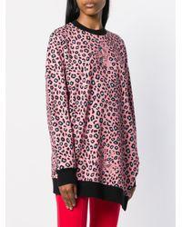 Vivetta - Pink Leopard Print Asymmetrical Sweater - Lyst